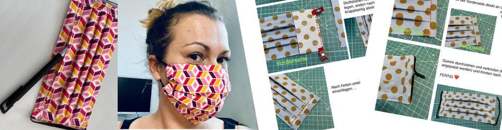Mundschutzmaske mit Filterfach